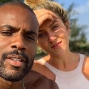 Rafael Zulu e a namorada, Aline Becker, estão na reta final da gravidez