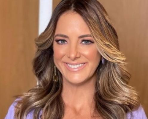 A apresentadora Ticiane Pinheiro mostrou o marido com sua primogênita
