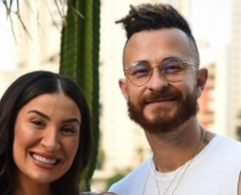 Bianca Andrade viajou com o namorado e o filho