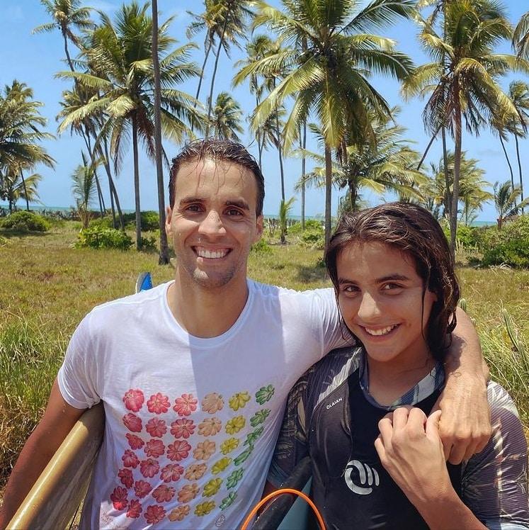 Daniel Cady ao lado de seu filho com Ivete Sangalo