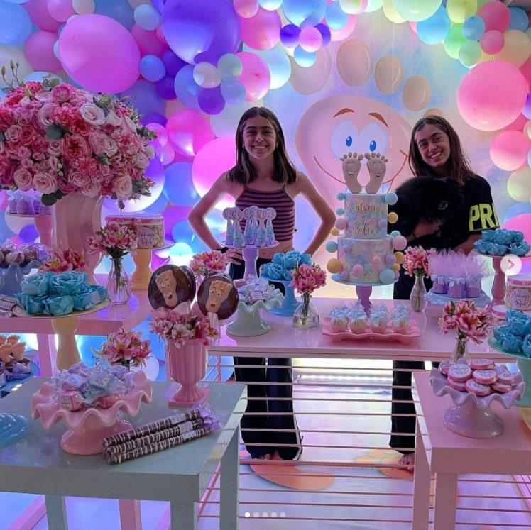 Filhas de Giovanna Antonelli comemorando seu aniversário