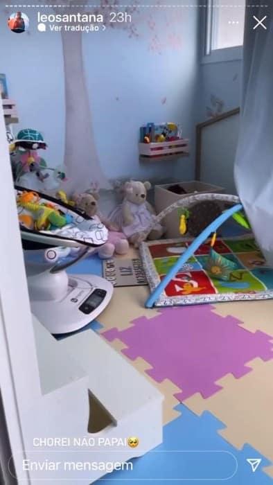 Uma parte da brinquedoteca de Liz, filha de Léo Santana e Lorena Improta