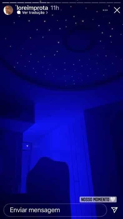 Detalhe da iluminação do quarto da bebê de Léo Santana e Lorena Improta