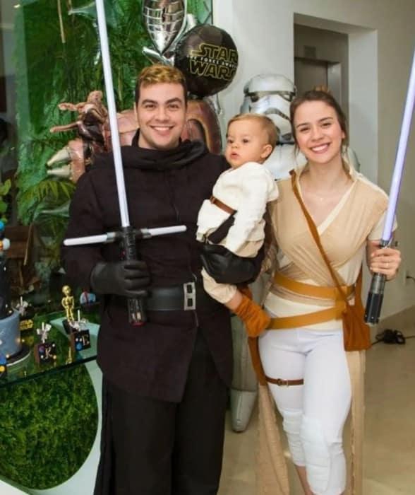 Luccas Neto e Jéssica Diehl inovaram no tema da festa do bebê