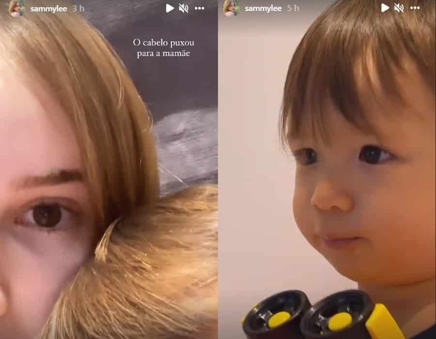 O menino Jake de um ano, filho de Pyong Lee