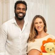 Rafael Zulu e Aline Becker encantaram ao mostrar o quartinho do bebê