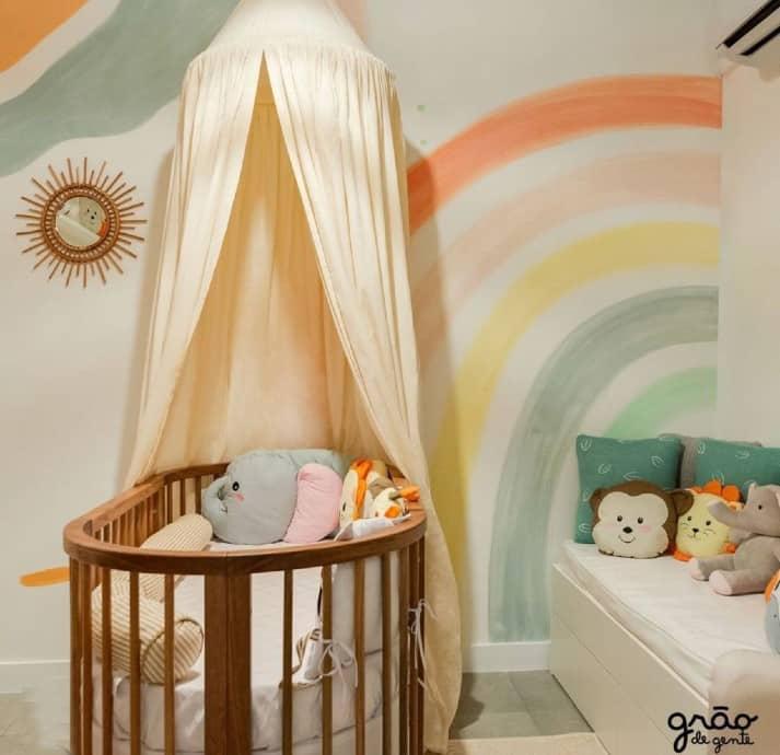 Detalhes do quartinho do bebê de Rafael Zulu e Aline Becker