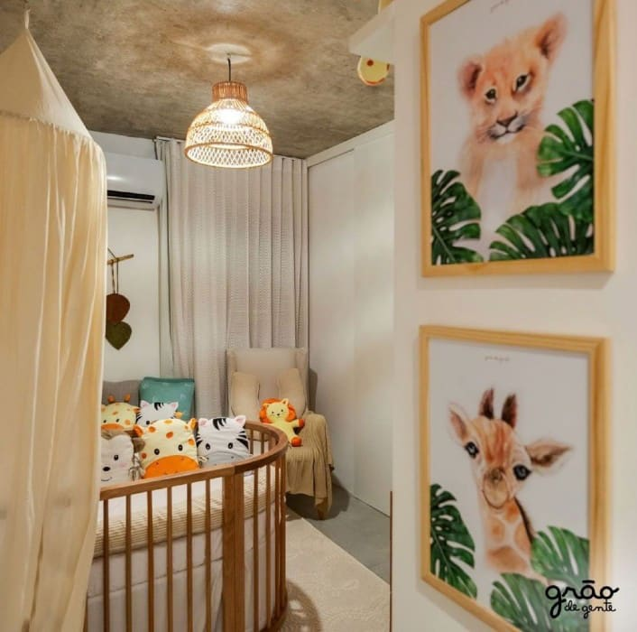 O quarto do Kalu, filho do ator Rafael Zulu, ganhou muitos elogios