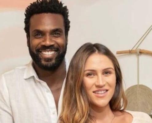 O ator Rafael Zulu e Aline Becker anunciam o nascimento de Kalu