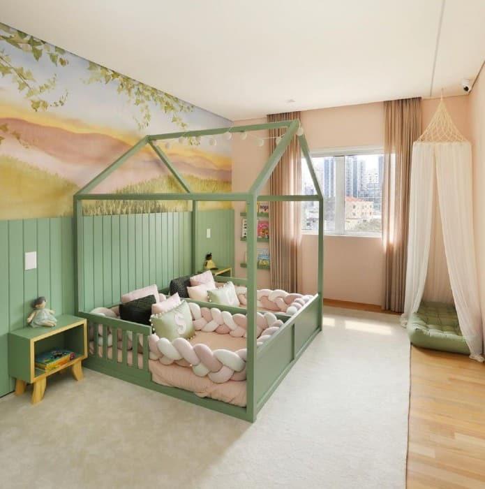 A decoração do novo quarto das netas de Roberto Justus
