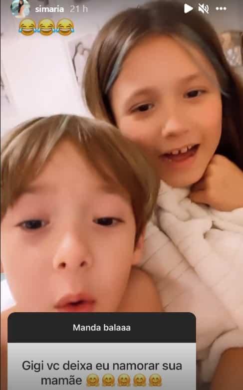 Filhos de Simaria falando sobre a possibilidade de um novo namoro da cantora