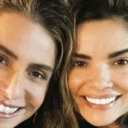 Vanessa Giácomo posou com os filhos e com a atriz Giovanna Antonelli
